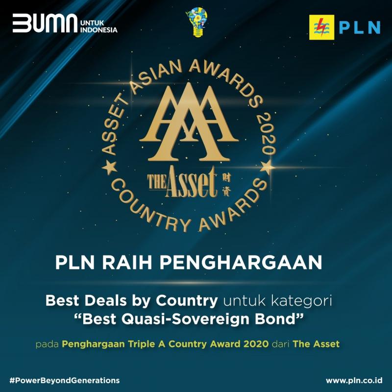 Kembali Sukses Terbitkan Global Bond, PLN Sabet Penghargaan dari The Asset Asian Awards