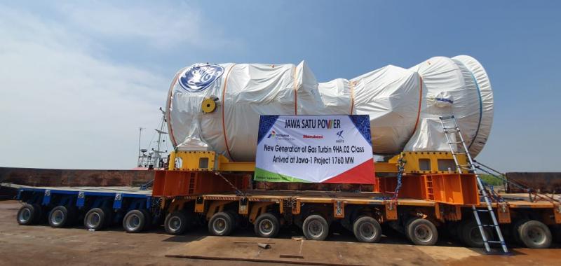 Menempuh Ribuan Kilometer, Akhirnya Turbin Gas GE Tiba di Pembangkit Listrik Jawa Satu Power