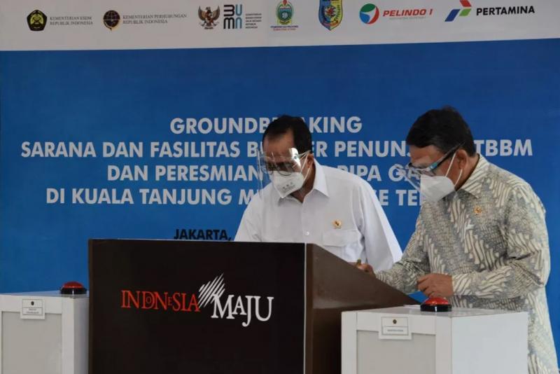 Menteri ESDM Resmikan Infrastruktur Energi di Kuala Tanjung