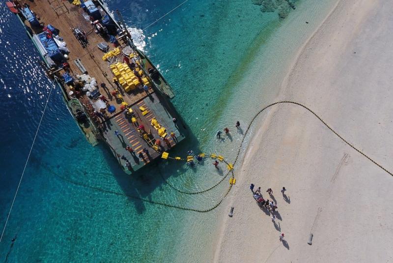 Progres Transmisi Pulau Bangka - Sumatera Capai 8,5%
