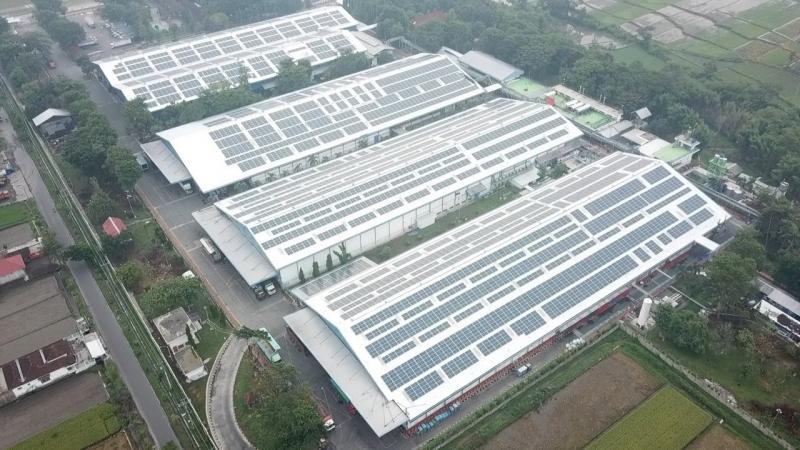 Total Solar DG Pasang PLTS Atap di Pabrik Danone-Aqua Klaten