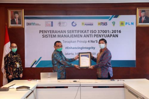 Photo of Terapkan GCG, PLN Raih Sertifikasi Anti Manajemen Penyuapan ISO 37001